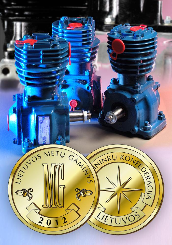 Auridai įteiktas aukso medalis už naują šių metų gaminį — automobilinį kompresorių.